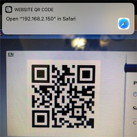 iOS Camera Scan QR Code step 2